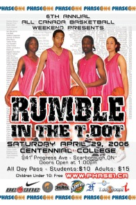 2006 All Canada Basketball Weekend-Rumble in the T-Dot; Vanessa Kabongo, Marvell Waithe, Learie Duncan, Kalisha Keane